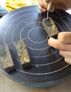 粘土の象嵌技法