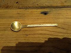 真鍮の小さじ作り
