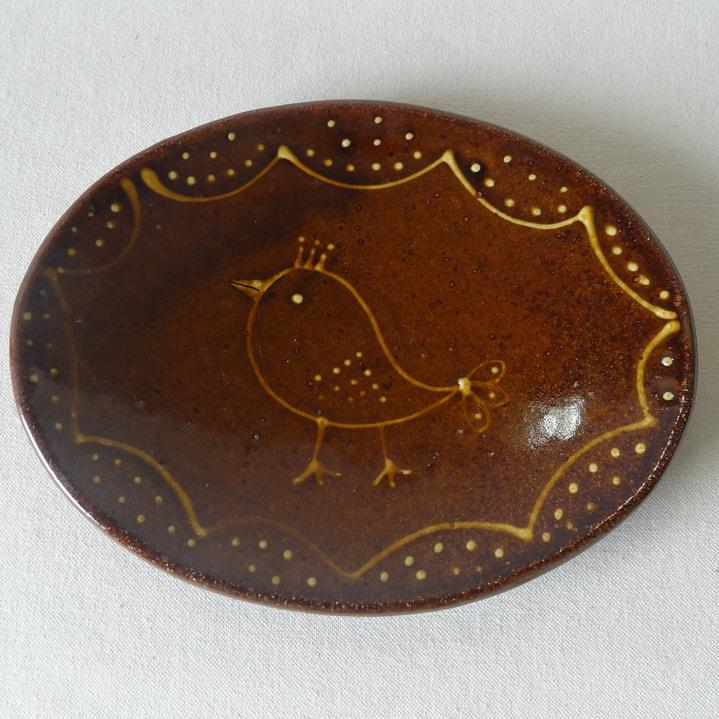 イッチン技法のオーバル皿
