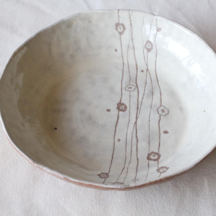 基礎コース 白化粧紋鉢