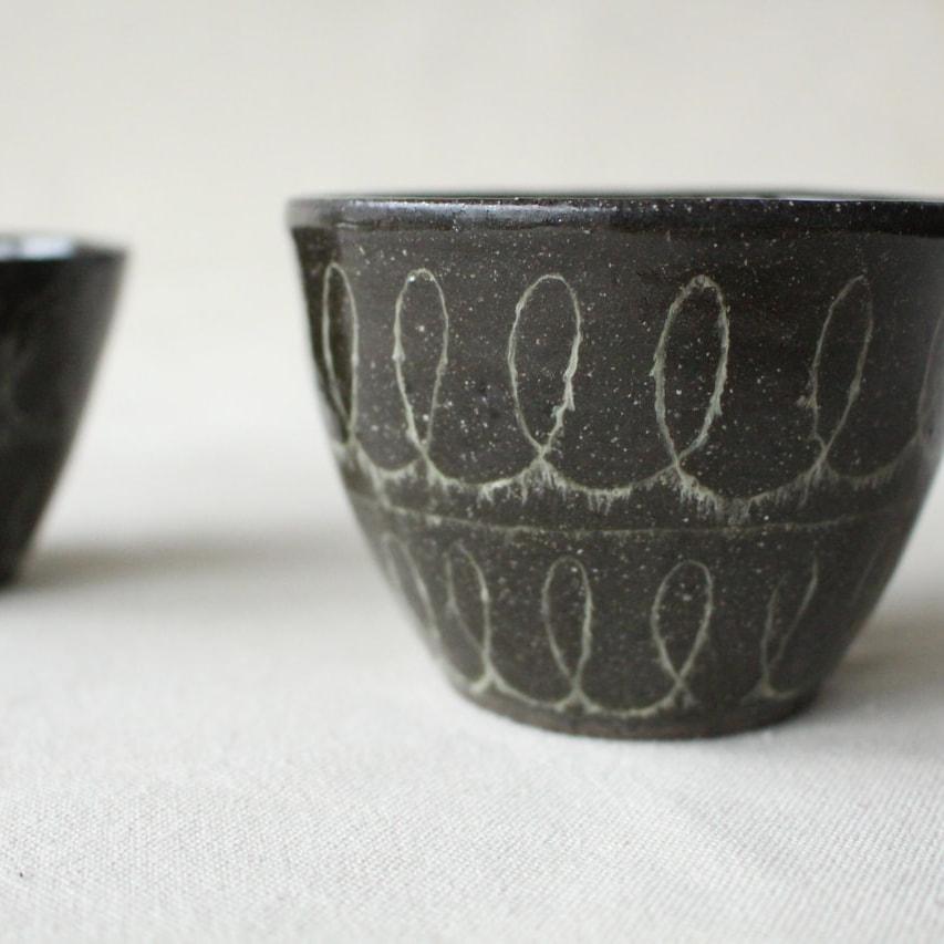 モヘアな毛糸のカップ