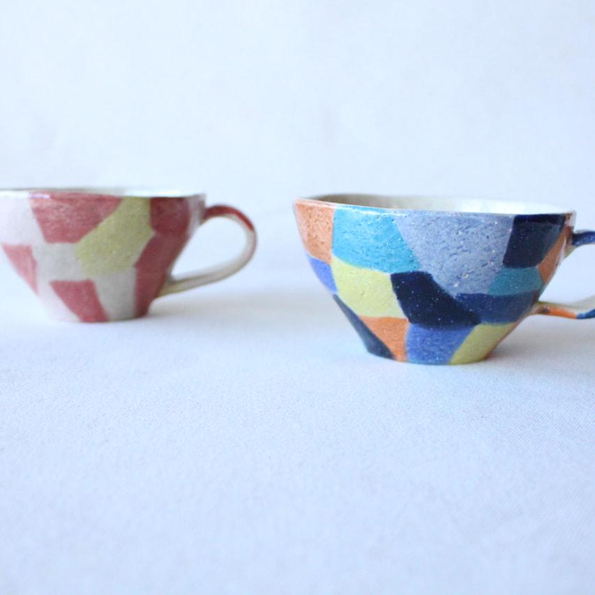モザイク模様のカップ