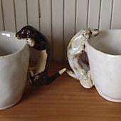犬の把っ手のカップ